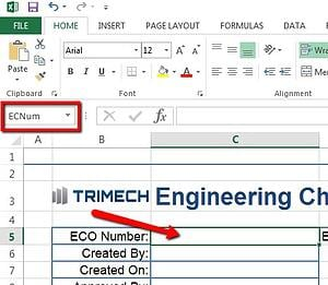 Linking SOLIDWORKS PDM Variables in Microsoft Excel