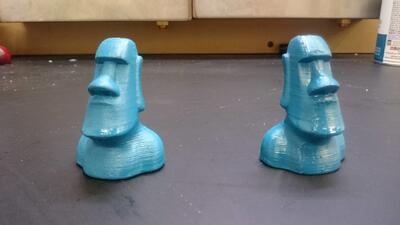 3D print sanded with primer and paint