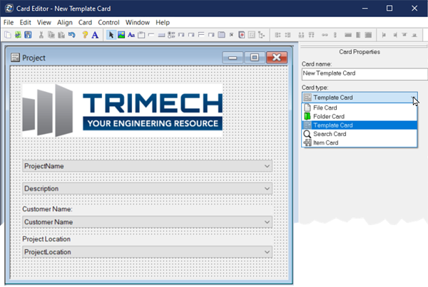 SOLIDWORKS Template Card