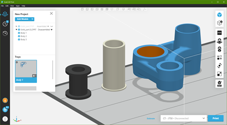 3D Printing Files Multi Body Parts and Assembly Data