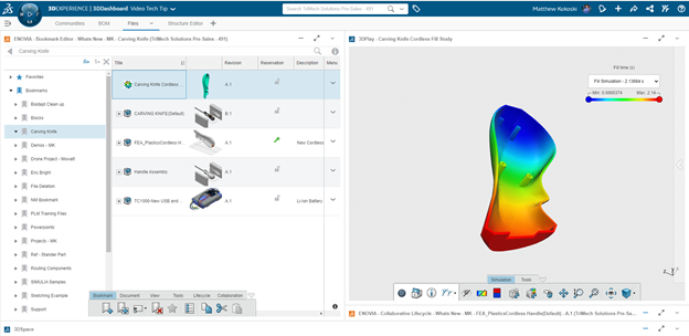 3DEXPERIENCE Plastic Injection Engineer Fill Study