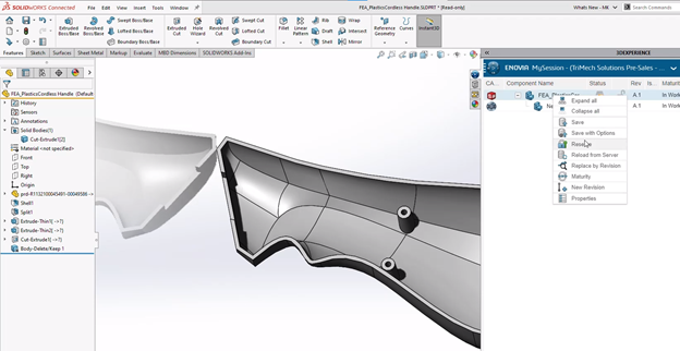 3DEXPERIENCE Plastic Injection Engineer Saving for Analysis