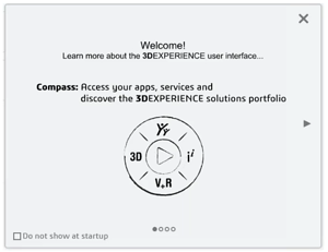 3DEXPERIENCE Welcome Panel Compass