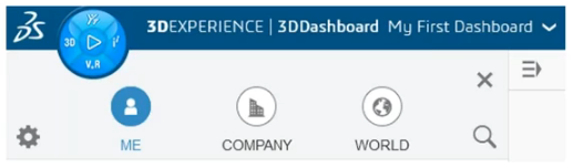 3DEXPERIENCE Welcome Panel World Shortcut