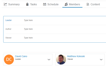 3DEXPERIENCE Project Planner adding Stakeholders