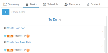 3DEXPERIENCE project planner adding tasks