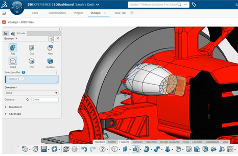 3DEXPERIENCE xDesign In-Context Features