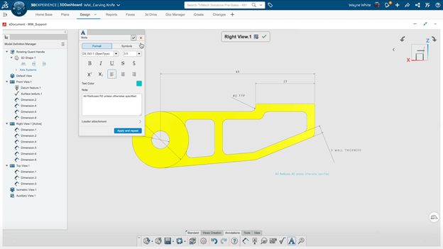3DEXPERIENCE xDocument Configuring Notes