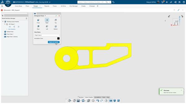 3DEXPERIENCE xDocument Creating Standard Views