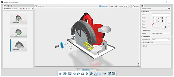 3DEXPERIENCE xHighlight Component Removal Exploded View