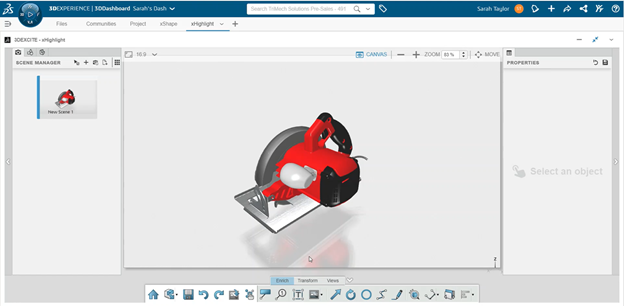 3DEXPERIENCE xHighlight Creating a New Project