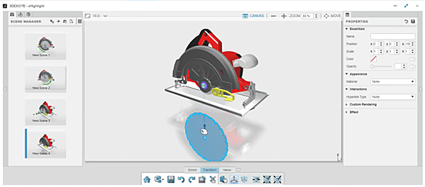 3DEXPERIENCE xHighlight Dragging out Components
