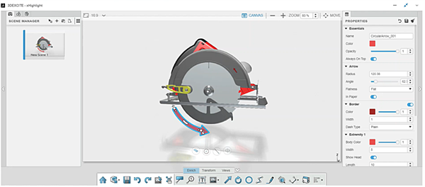 3DEXPERIENCE xHighlight Orienting the Model