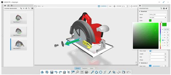 3DEXPERIENCE xHighlight Removing Components Illustration