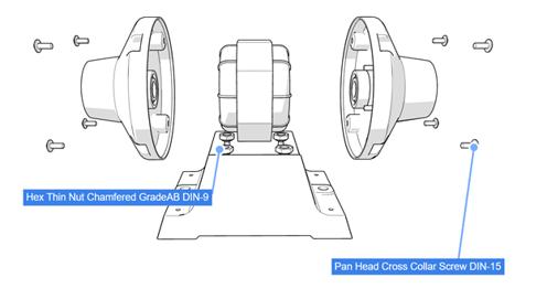 3DEXPERIENCE xHighlight Technical Illustration Hardware Components