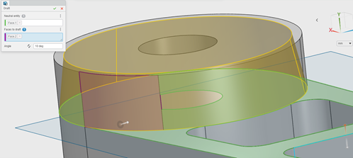 3DEXPERIENCE xMold Adding Draft to a Model