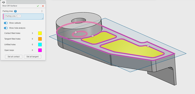 3DEXPERIENCE xMold Shut Off Surfaces