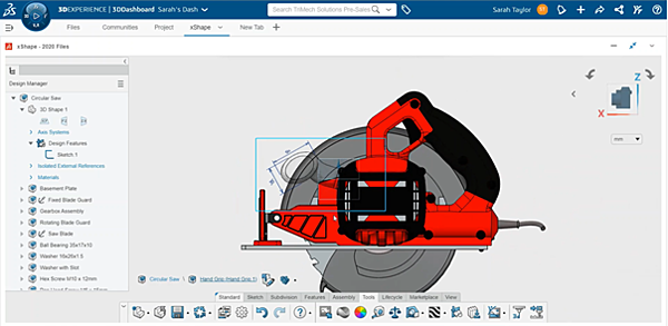 3DEXPERIENCE xShape Adding a Sketch to the Modeling Environment