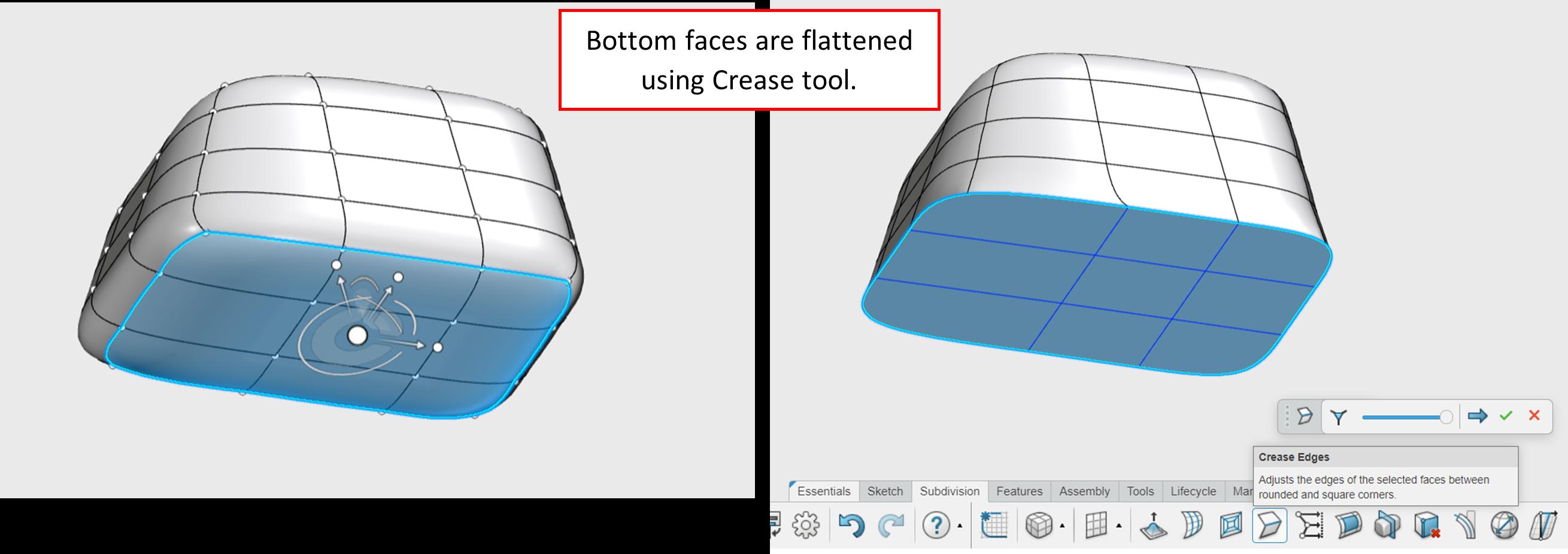 3DEXPERIENCE xShape Crease Tool