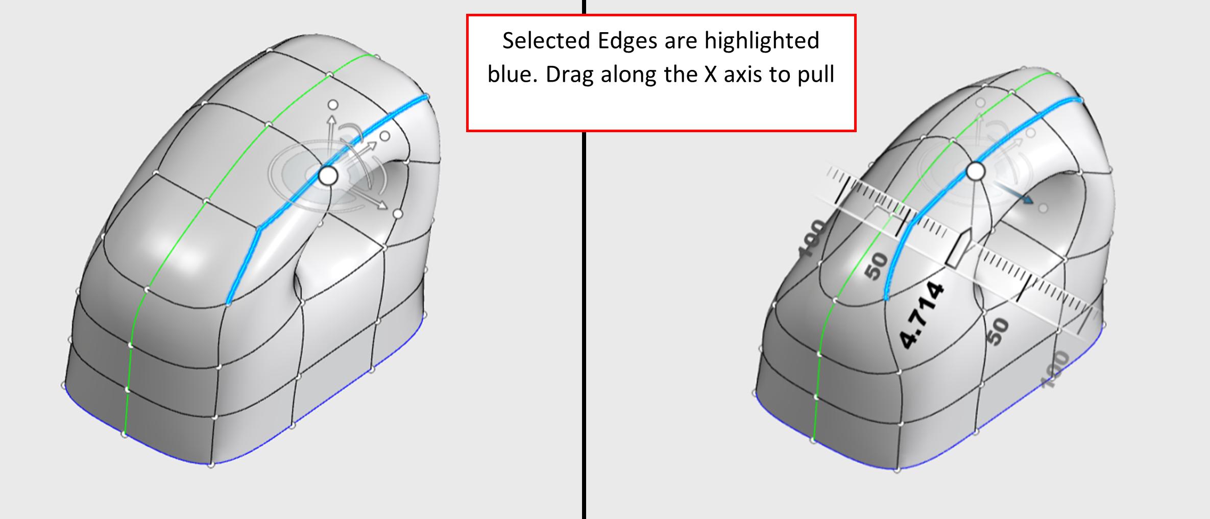 3DEXPERIENCE xShape Selected Edges