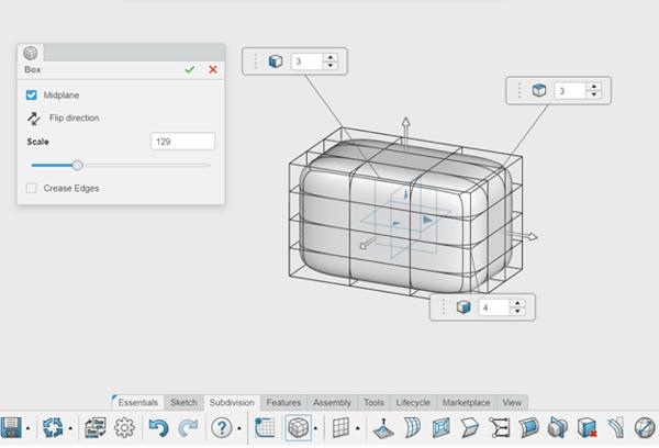3DEXPERIENCE xShape Subdivision