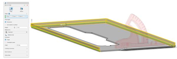 3DEXPERIENCE xSheetMetal Create Additional Walls