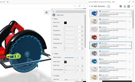 3DEXPERIENCE xStudio Assigning Materials