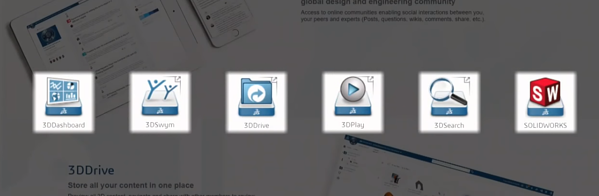 SOLIDWORKS 3DEXPERIENCE app icons