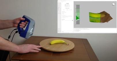 Artec 3D Scanning a Banana