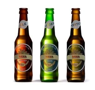 Beer Bottles 3 White Background VeroUltra