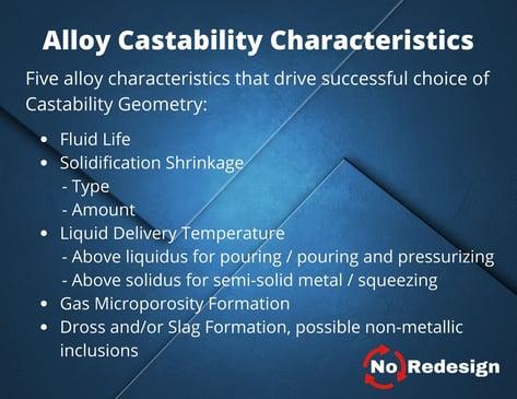 Characteristics of Alloy Castability-1