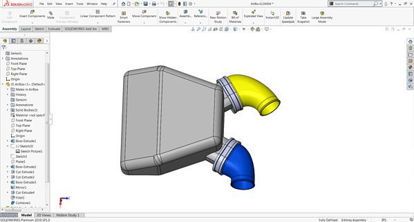 SOLIDWORKS Assembly Interface