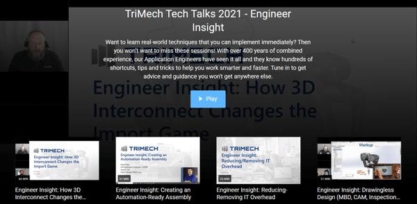 TriMech Tech Talks 2021: Engineer Insight Webinars