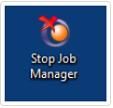 stop objet job manager on host pc