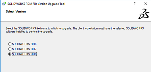 SOLIDWORKS_File Format Upgrade Version Control Tools SOLIDWORKS PDM