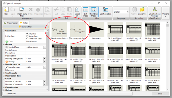 2D Symbols in SOLIDWORKS Electrical Library