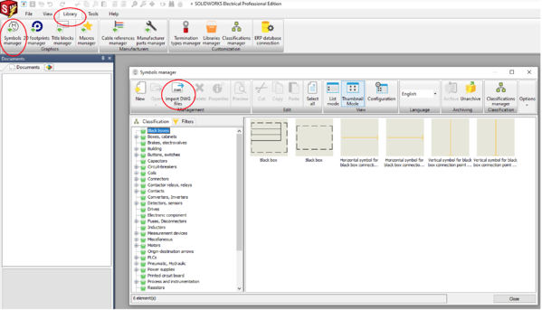 Import DWG Files in SOLIDWORKS Electrical