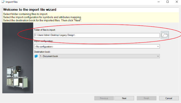 Import File Wizard in SOLIDWORKS Electrical