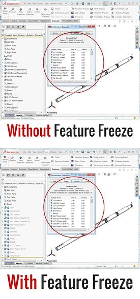 With & Without Feature Freeze