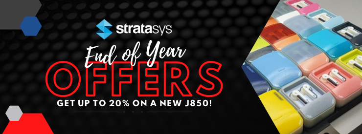 Receiveup to 20% off the list price when you buy a new J850 PolyJet 3D printer