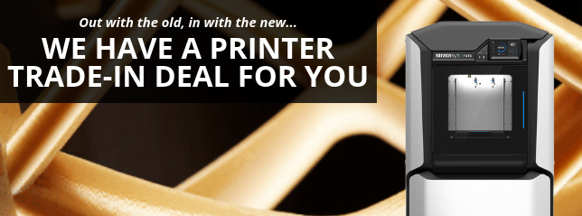 Get $25,000 towards a F370 when you trade in your Dimension printer