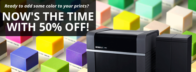 Trade in your printer for 50% off a Stratasys J735 or J750