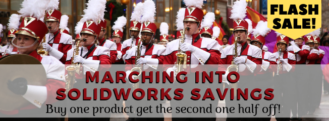 Buy one SOLIDWORKS product, get the second one half off