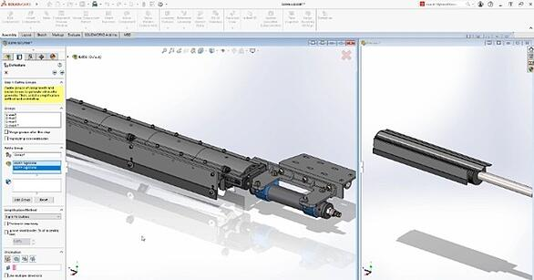 SOLIDWORKS 2021 Silhouette Defeature Simplified Version