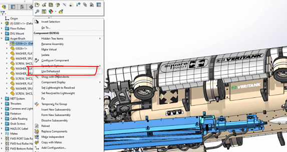 SOLIDWORKS 2021 Silhouette Defeature