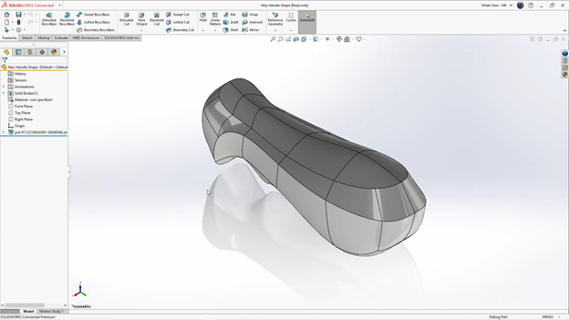 3DEXPERIENCE SOLIDWORKS Changes from xShape