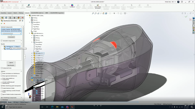 3DEXPERIENCE SOLIDWORKS Interference Detection