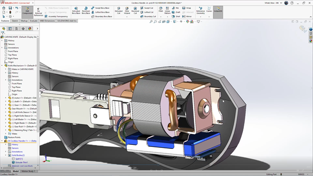 SOLIDWORKS 3DEXPERIENCE Internal Components Detail