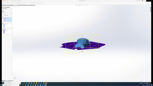 SOLIDWORKS 3DEXPERIENCE Mold Process Execute Tooling Split