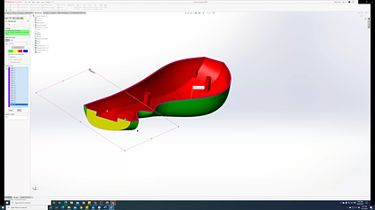 SOLIDWORKS 3DEXPERIENCE Mold Process Generating a Split